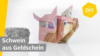 Geldscheine falten SCHWEIN - GLÜCKSSCHWEIN - für kreative Geldgeschenke   Roombeez powered by OTTO
