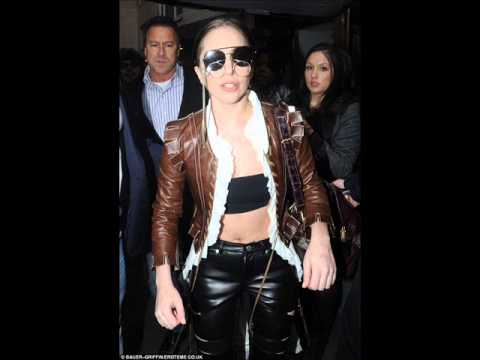 Lady Gaga wears shades and glasses with leather jacket and trousers to rehearsals in New York