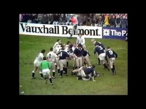 Highlights of Scotland's 33-6 win over England in 1986