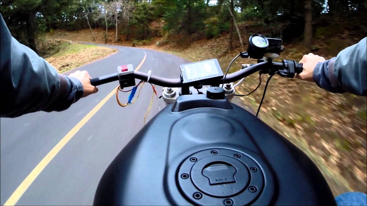 Electric Motorcycle Conversion Part 9 First Ride!!!   YouTube