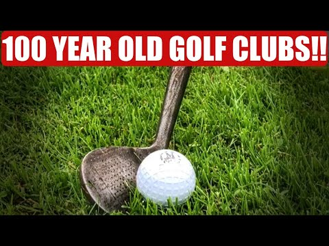 PLAYING GOLF WITH 100 YEAR OLD GOLF CLUBS!! HICKORY GOLF