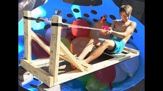 Video 🎈💦 GIANT WATER BALLOON SLINGSHOT 💦🎈 - Swimming Pool Antics! - vlog e225 slingshot download MP3, 3GP, MP4, WEBM, AVI, FLV Desember 2017