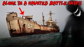 I EXPLORED A HAUNTED BATTLESHIP! *VOICES CAUGHT ON CAMERA* | MOE SARGI