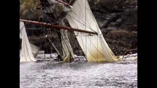 Astrid Tall Ship wreck a month on @ low tide. Kinsale - Oysterhaven, Cork Ireland. news. karl grabe