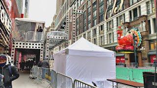 【4K】New York Walking T๐ur Macy's Thanksgiving Parade 2020 Preparation / Day 2