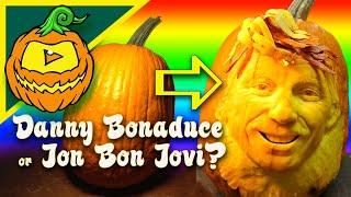 Pumpkin Carving Master Jon Neill transforms a pumpkin into Jon Bon ...