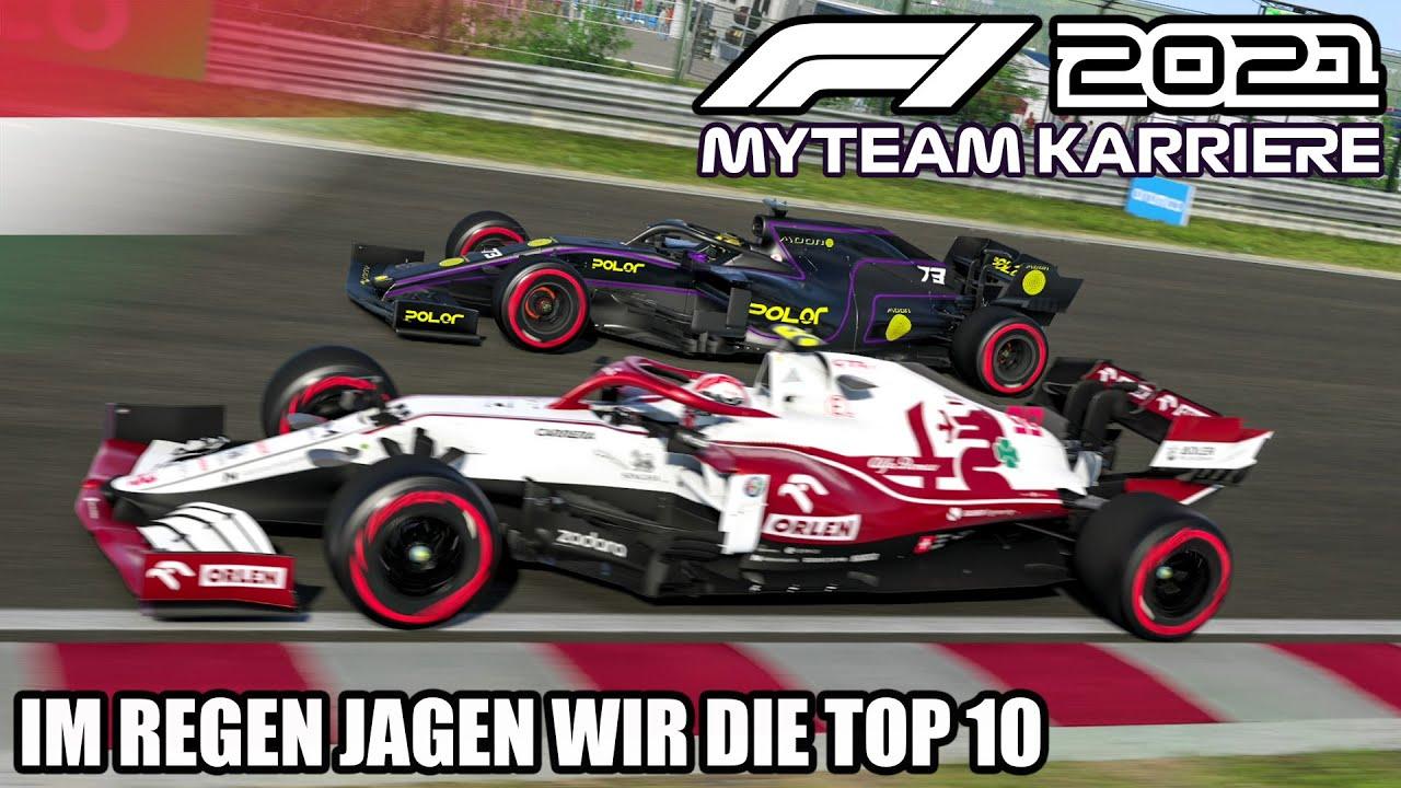 F1 2021 My Team Karriere #10: Im Regen jagen wir die Top 10!