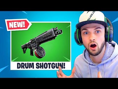 *NEW* DRUM SHOTGUN in Fortnite is INSANE!