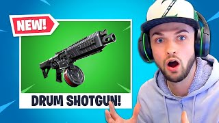 *NEW* DRUM SHOTGUN in Fortnite is INSANE!