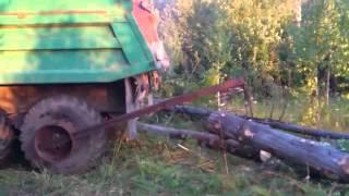 Погрузка бревен по русски   Подборка видео от 10 12 2013