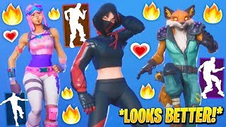 Fortnite Dances Emotes That Looks Better With These Skins..! *FEMALE IKONIK* (Custom & Leaked Skins)
