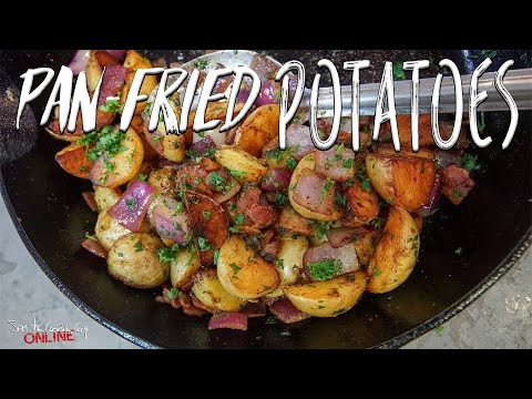 Delicious Pan Fried Potatoes | SAM THE COOKING GUY