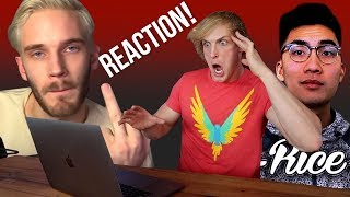 REACTING TO PEWDIEPIE & RICEGUM'S ROASTS ON MY BROTHER!