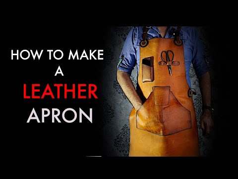 leather apron tutorial and pattern download