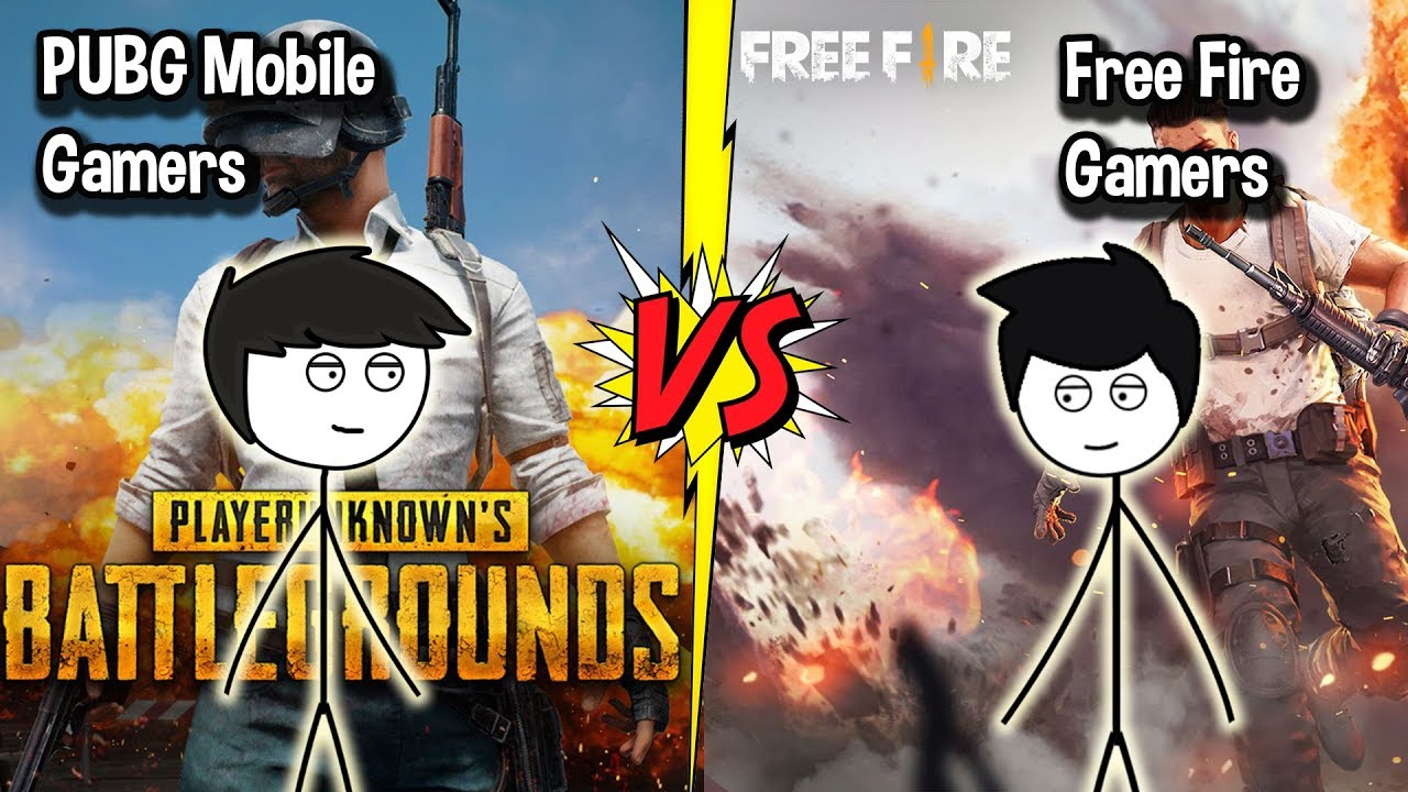 Pubg Mobile Gamers Vs Free Fire Gamers