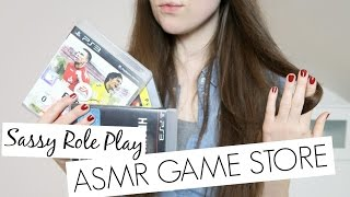 ASMR | Comedy Game Store Role Play // German/ Deutsch // Shallow Sales Person