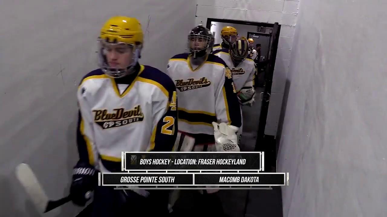 Macomb Dakota At Grosse Pointe South Boys Hockey State Champs