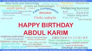 AbdulKarim   Languages Idiomas - Happy Birthday