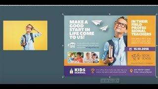 how to make school banner , ads and flyers using coreldraw
