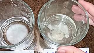 Baking Soda & Washing Soda With Vinegar Reaction Experiment