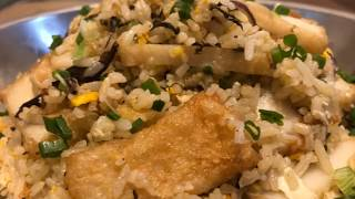 Fried rice with chinese olive vegetable 橄榄菜炒饭