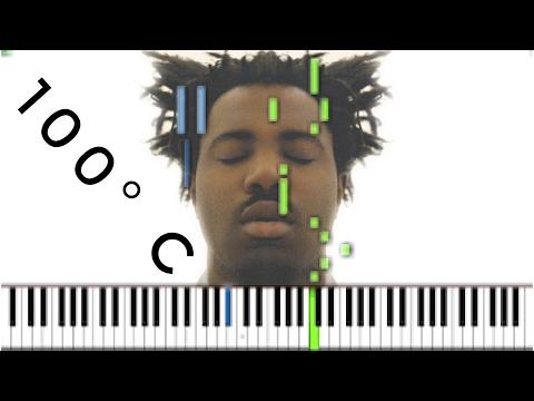 Sampha - 100°c [#reggiewatkins piano synthesia tutorial]