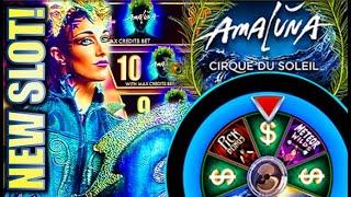★NEW SLOT! FANTASTIQUE WIN!★ AMALUNA CIRQUE DU SOLEIL (SG) Slot Machine Bonus