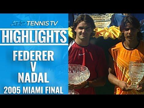 First EVER Federer V Nadal Final | Miami Open 2005 Final Extended Highlights