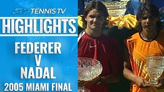 First EVER Federer v Nadal Final | Miami Open 2005 Final Extended Highlights