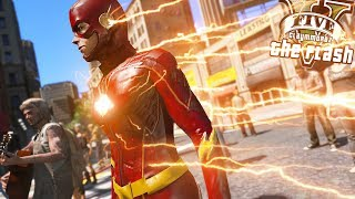 The Flash Saves People From Car Attack! (GTA 5 Flash Mod)