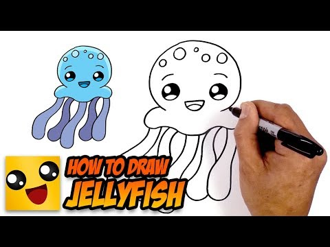 How To Draw Jellyfish- Art Lesson For Kids
