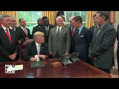 WATCH: President Trump meets religious leaders on National Day of Prayer