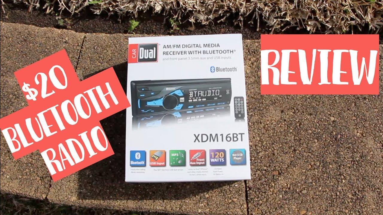 Dual Media Radio XDM16BT $20 BLUETOOTH Walmart on