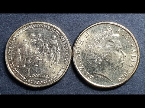 2009 Australia $1 Centenary Of Aged Pension You Find In Circulation