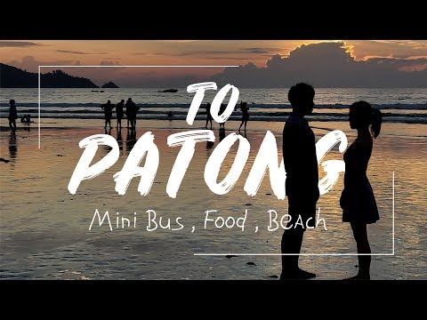 Phuket Airport to Patong Beach cheapest way | Mini bus, Food, Beach, People