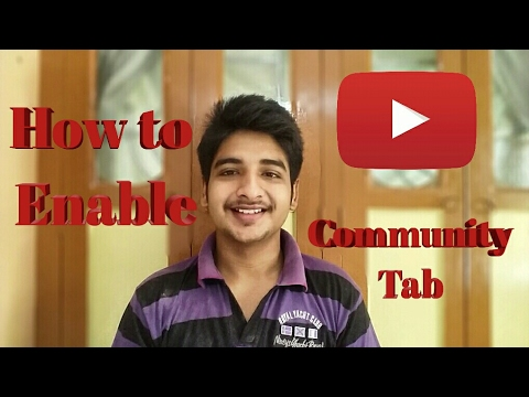 how to add community tab on youtube