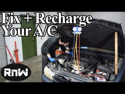 How To Diagnose And Recharge Your Ac System With Refrigerant Using An A C Manifold Gauge Set