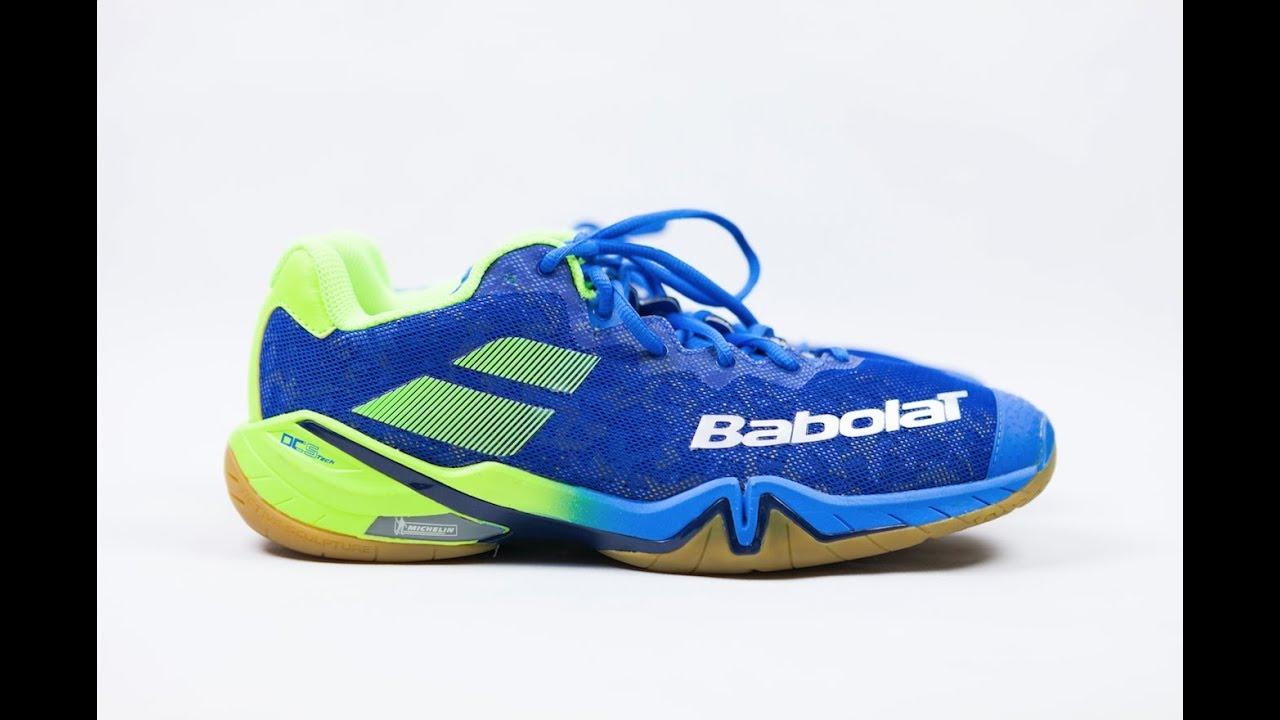 737e2ca5728f Review  Babolat Shadow Tour Badminton Shoes - YouTube