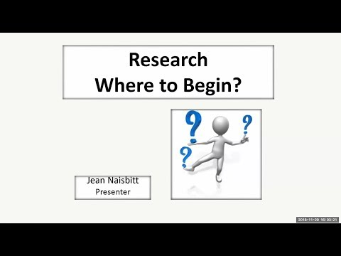 Research, Where to Begin? by Jean Naisbitt