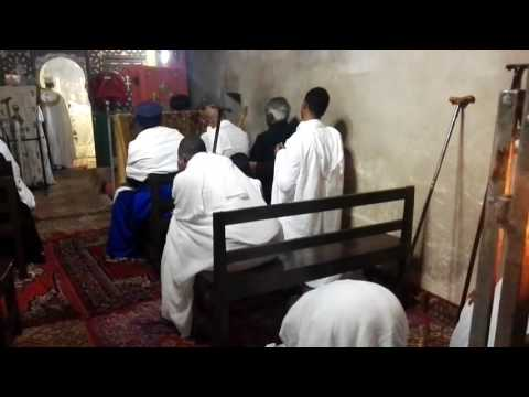 An Ethiopian Orthodox mass at the Church of  the Holy Sepulchre, Jerusalem