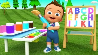 Alphabets & Colors for Children to Learn with Baby Draw ABC on Board 3D Kids Toddler Educational