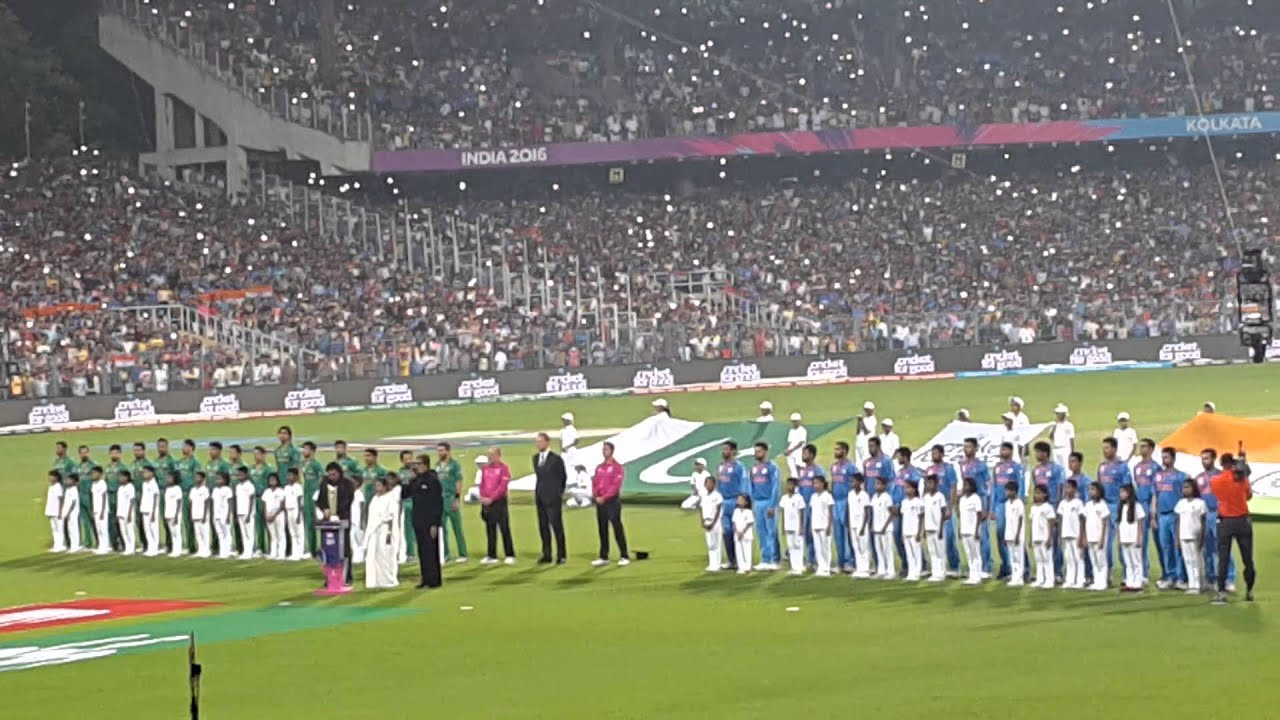 big b sings national anthem eden gardens before india vs pakistan t20 match on 190316 youtube - Eden Garden
