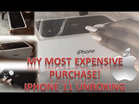 Black Iphone 11 Unboxing - Set Up, First impressions!