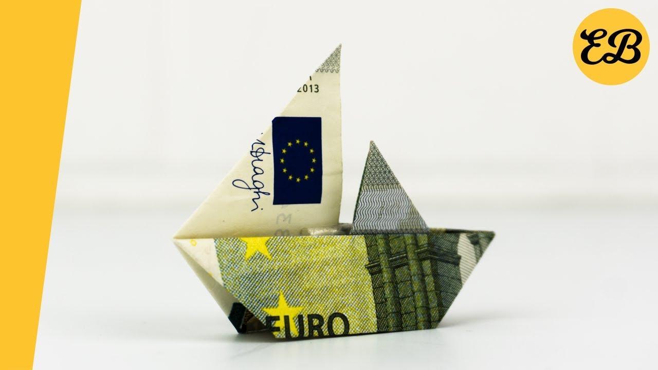 Geldscheine Falten Segelschiff Geldgeschenke Basteln Schiff Youtube