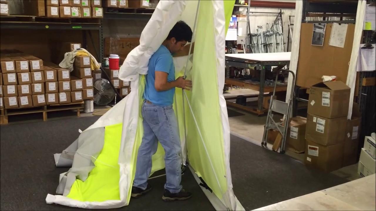 POPu0027Nu0027WORK 4u0027x4u0027 Custom Tent by Creative Tent Solutions Inc & POPu0027Nu0027WORK 4u0027x4u0027 Custom Tent by Creative Tent Solutions Inc - YouTube