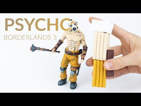 PSYCHO BANDIT (Fortnite Battle Royale / Borderlands 3 - Mayhem) - Polymer Clay