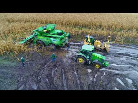GR Lewandowscy - John Deere S700 Testy [Agro-Sieć] Ciężki Zbiór Kukurydzy.