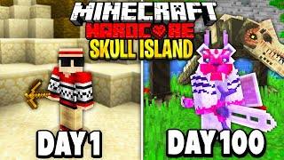 I Survived 100 Days in Skull Island on Minecraft.. Here's What Happened..