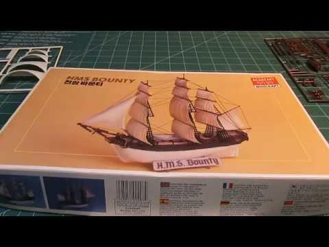 Academy Minicraft HMS Bounty Model Ship Kit Review