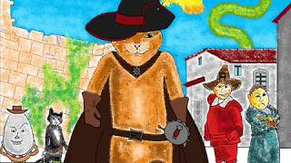 Кот в сапогах. Рисунок на Paint